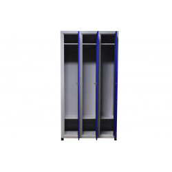 Шкаф одежный металлический 3 секции
