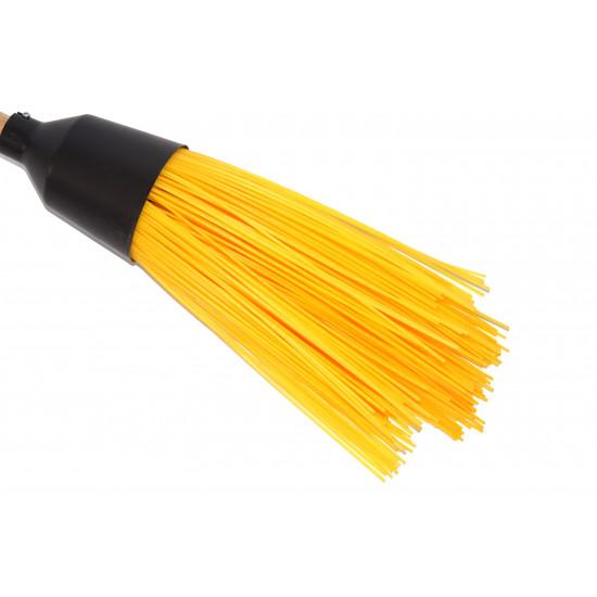 Plastic round broom (yellow)